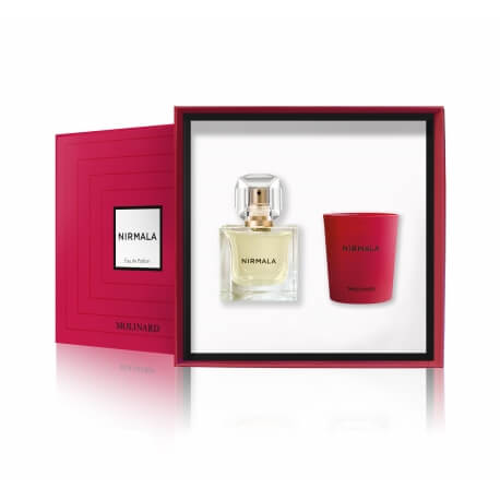 molinard coffret nirmala bougie eau de parfum pas cher news parfums. Black Bedroom Furniture Sets. Home Design Ideas