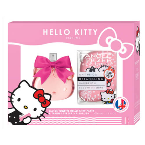 Hello kitty hello kitty coffret - brosse tangle teezer rose + eau de toilette 40ml
