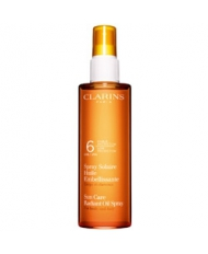 Clarins Spray Solaire Huile Embellissante - Faible Protection Corps et Cheveux UVB6 150ml