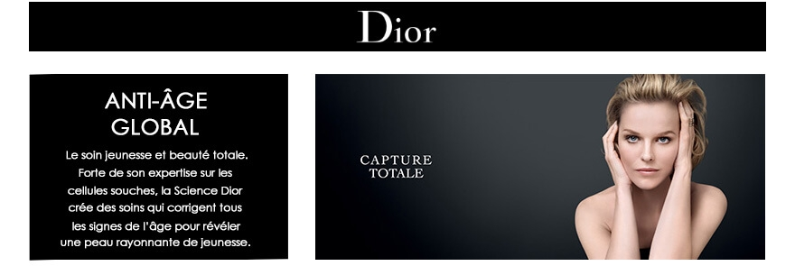 Soin Dior Anti Age Global et Perfection Capture Totale