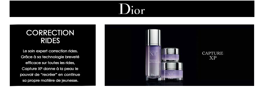 Soin Dior Capture XP : soin expert correction rides